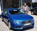 Audi A4 mit Testfahrer